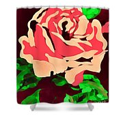 Pink Rose Impression Shower Curtain