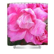 Pink Rose Painting  Shower Curtain