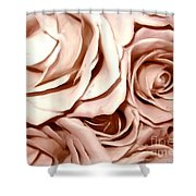 Pink Roses Bouquet Sketchbook Effect Shower Curtain
