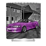 Pink Saab  Shower Curtain