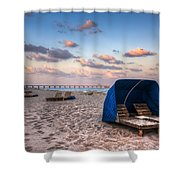 Pink Sands Shower Curtain by Debra and Dave Vanderlaan