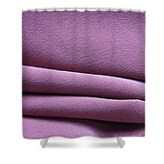 Pink Silk Crepe Shower Curtain