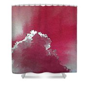 Pink Sk With A Cloud Shower Curtain