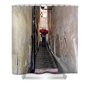 Pink Step Shower Curtain