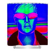Pink Sunglasses Shower Curtain