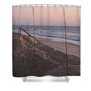 Pink Sunrise On The Beach Shower Curtain
