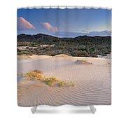 Pink Sunset At The Desert Shower Curtain