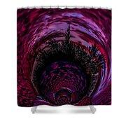 Pink Sunset Illusion 2 Shower Curtain