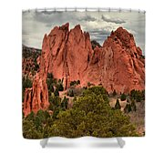 Pink Towers Of The Gods Shower Curtain