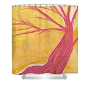 Pink Tree By Jrr Shower Curtain