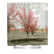 Pink Trees Shower Curtain