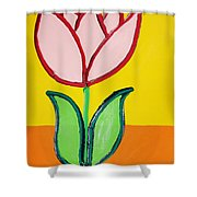 Pink Tulip Shower Curtain