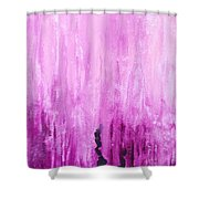 Pink Water Shower Curtain