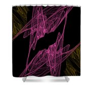 Pink Web Shower Curtain