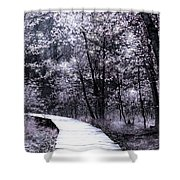 Pink Woodland Shower Curtain