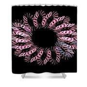 Pink Wreath Shower Curtain