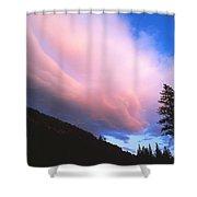 Pink Yellowstone Sunset Shower Curtain