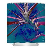Pink Yucca Twist Shower Curtain