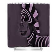 Pink Zebra Shower Curtain