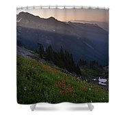 Pinnacle Saddle View Out Back Shower Curtain