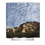 Pinnacles Of Fraser Island Shower Curtain by Linda Lees