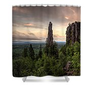 Pinnacles The Dorion Tower Shower Curtain