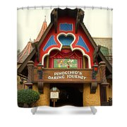 Pinocchio Daring Journey Fantasyland Disneyland Shower Curtain