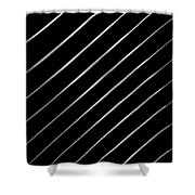 Pinstripes Phone Shower Curtain