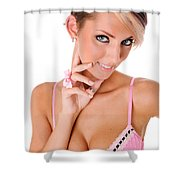 Pinup Girl Shower Curtain