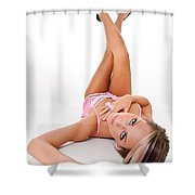 Pinup Girl's Legs Shower Curtain