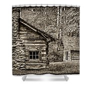 Pioneer Cabin And Shed In Cades Cove E227 Shower Curtain