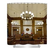 Pioneer Courthouse Courtroom In Portland Oregon Downtown Shower Curtain