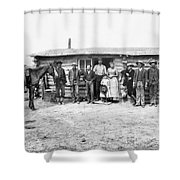 Pioneer Family Portrait Shower Curtain