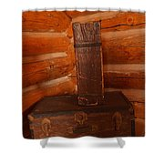 Pioneer Luggage Shower Curtain by Jeff Swan