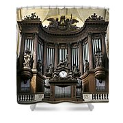 Pipe Organ In St Sulpice Shower Curtain