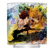Pipe Smoking Ritual Chillum India Rajasthan 1 Shower Curtain