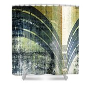 Piped Abstract Shower Curtain