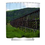 Pipeline Trestle Shower Curtain