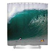 Pipeline Wave Hawaii Shower Curtain