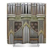 Pipes And Lattice Shower Curtain