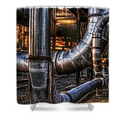 Pipes  Shower Curtain