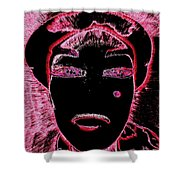 Pippas Pink Beauty Mark Shower Curtain