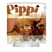 Pippi Longstocking - Fan Version Shower Curtain