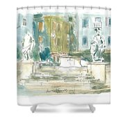 Piran - Square 1st May Shower Curtain