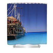 Pirate Boat Shower Curtain