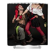 Pirate Couple 1 Shower Curtain