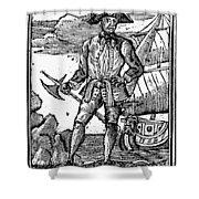 Pirate Edward England Shower Curtain