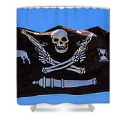 Pirate Flag With Skull And Pistols Shower Curtain