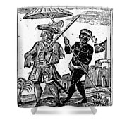 Pirate Henry Every, 1725 Shower Curtain