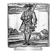 Pirate John Rackam, 1725 Shower Curtain